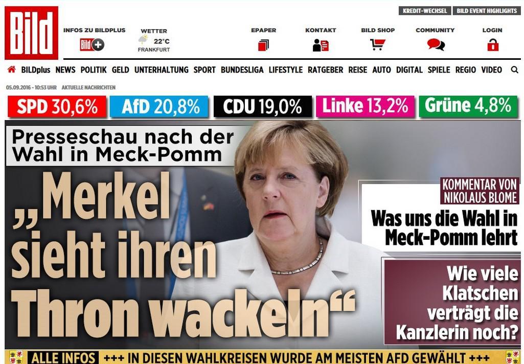 Německý Bild o debaklu CDU