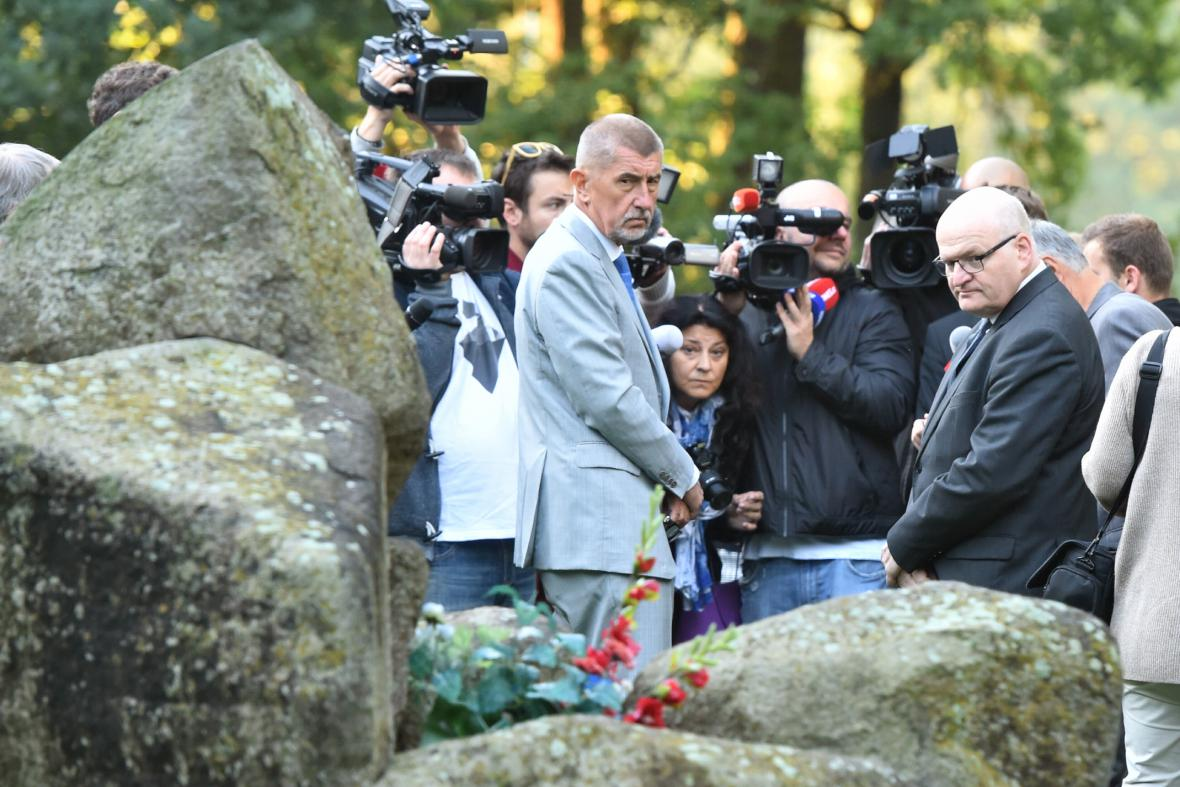 Andrej Babiš a Daniel Herman v Letech u Písku