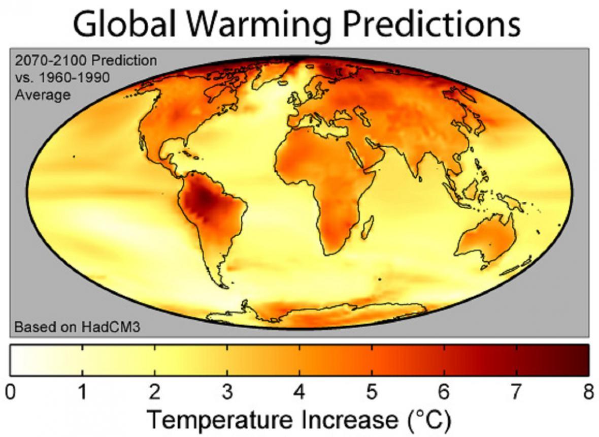Předpověď oteplování planety