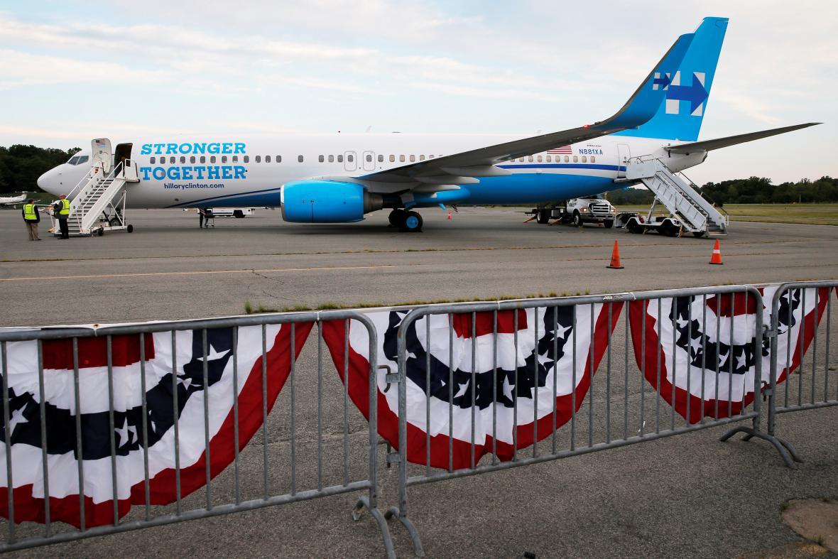 Letadlo Hillary Clintonové