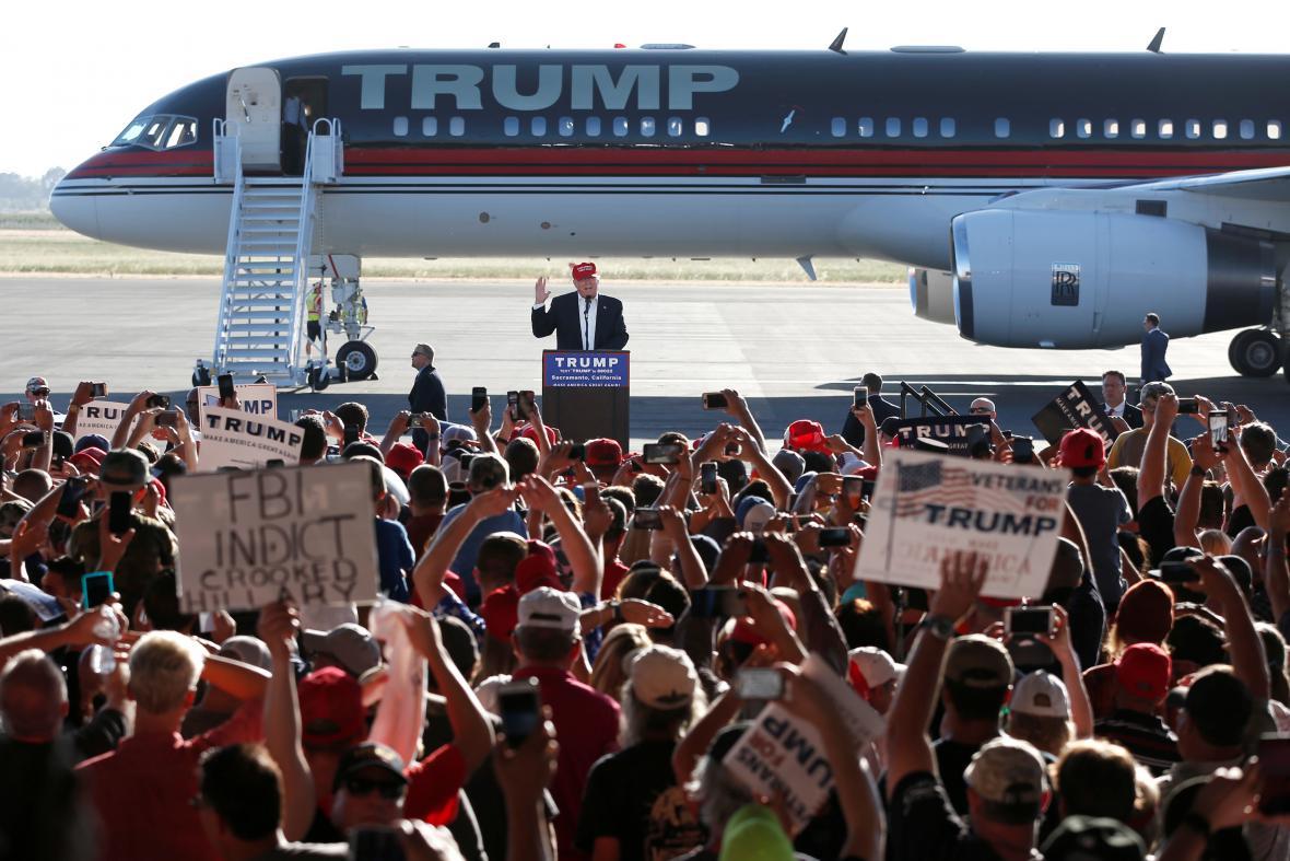 Letadlo Donalda Trumpa