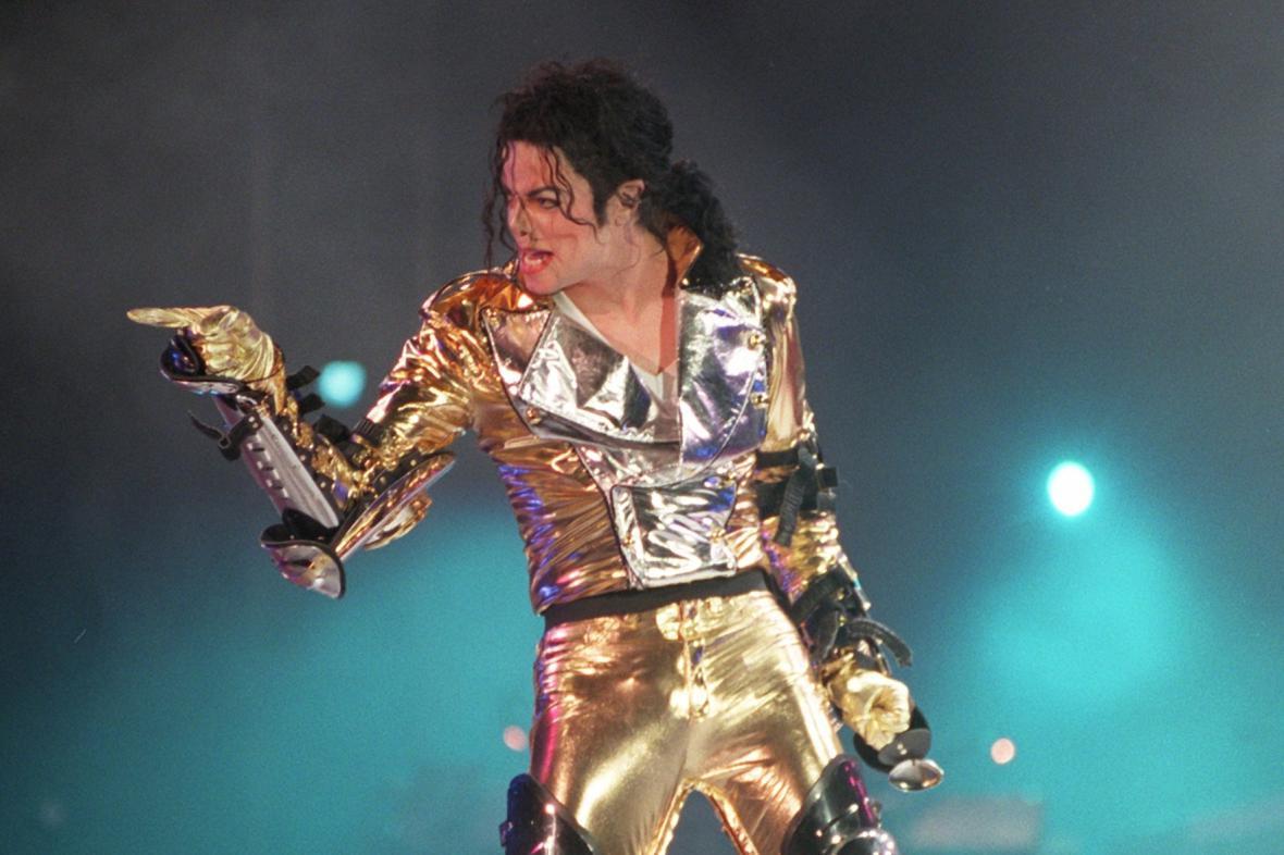 Michael Jackson během koncertu