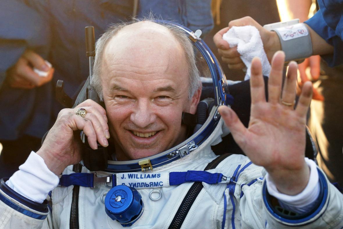 Americký člen posádky lodi Sojuz TMA-20M Jeffrey Williams