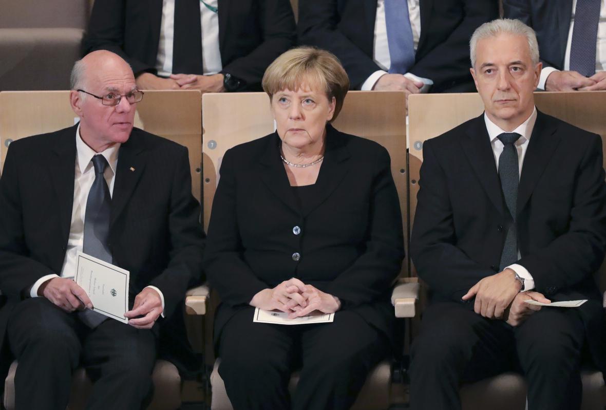 Norbert Lammert, Angela Merkelová a Stanislaw Tillich