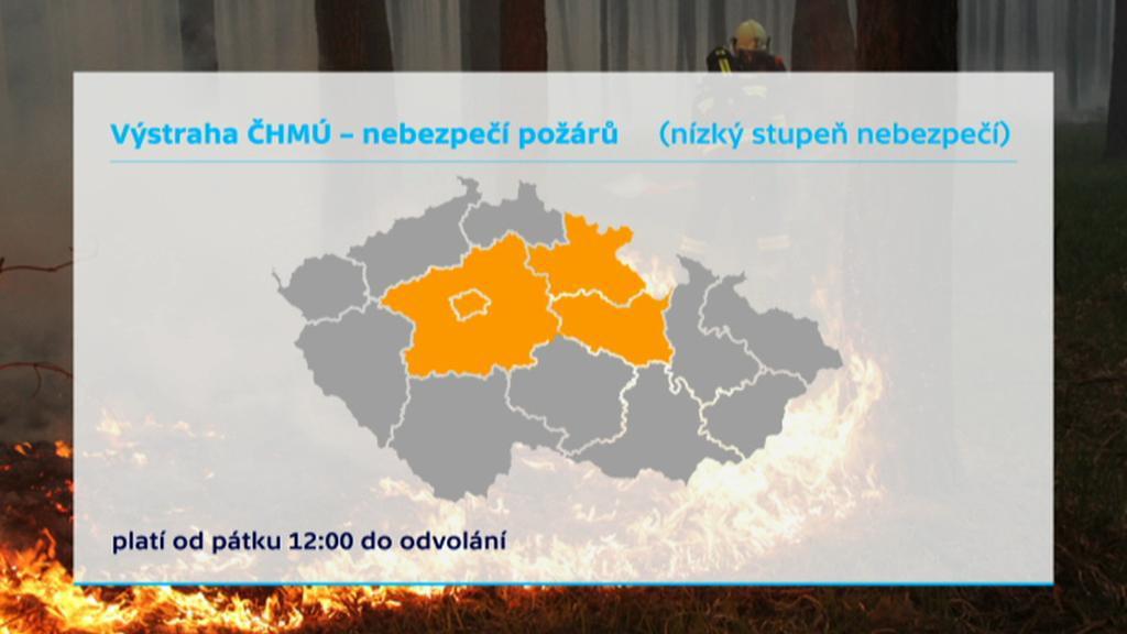 Výstraha ČHMÚ před nebezpečím požárů