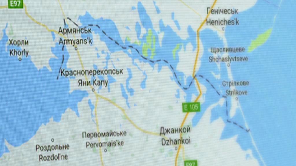 Hranice mezi Krymem a Ukrajinou