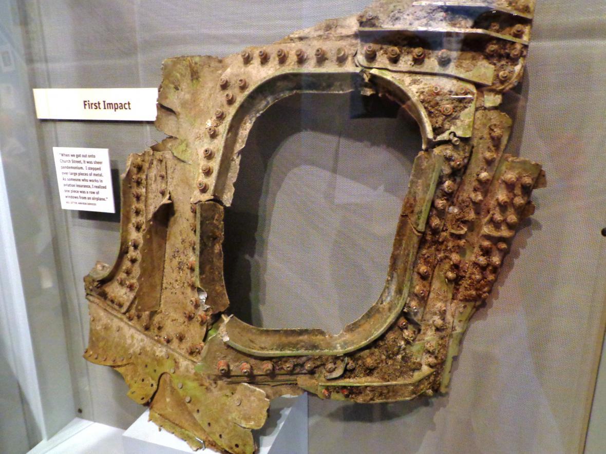 Předmět v muzeu útoků z 11. září 2001