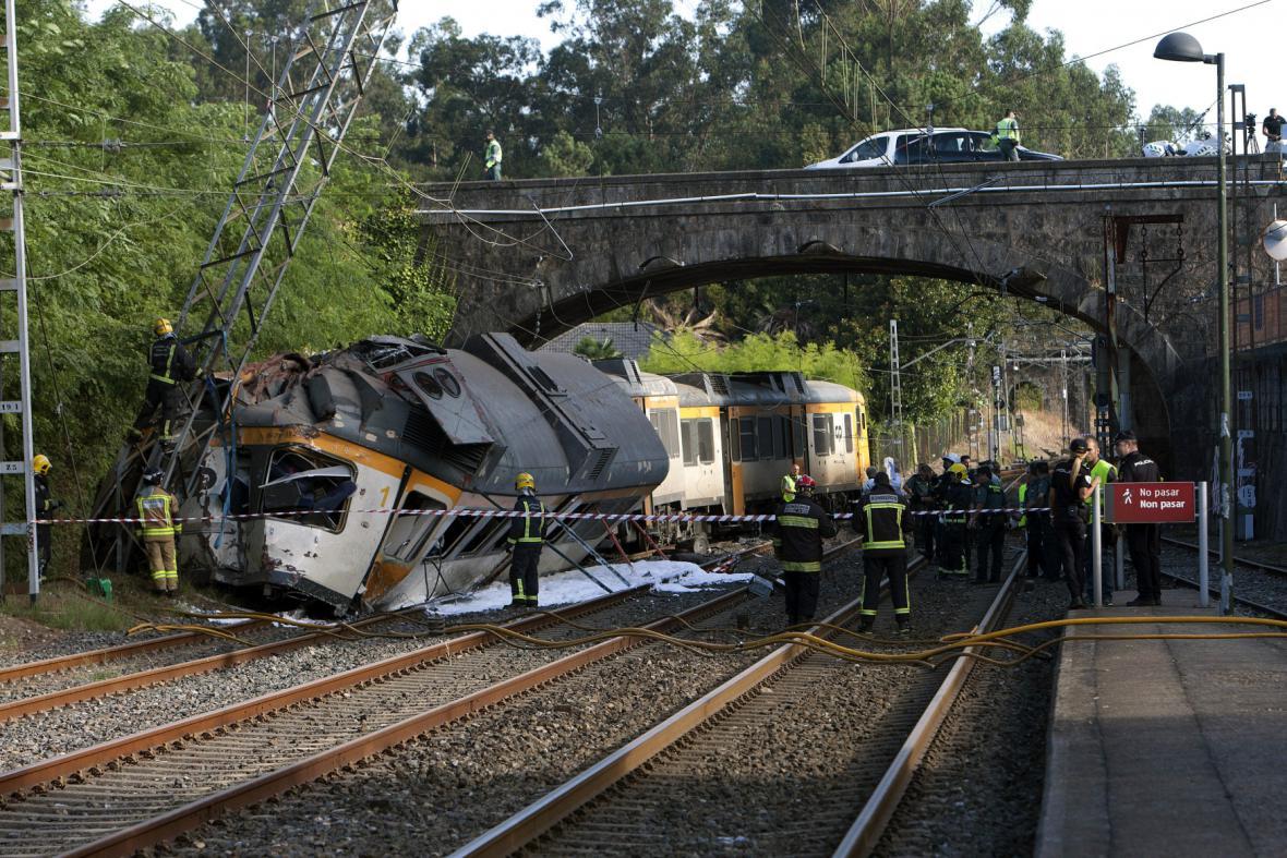 Vlakové neštěstí v Galícii