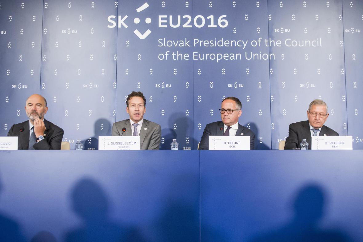 Ministři financí eurozóny v Bratislavě