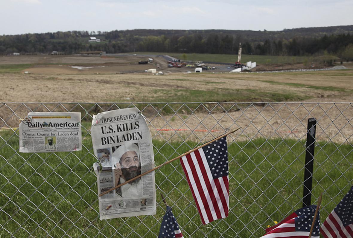 Pietní místo kolem dopadu letu č. 93 v Pensylvánii
