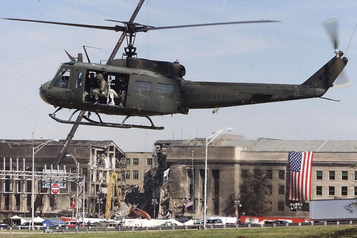 Následky dopadu letadla na Pentagon