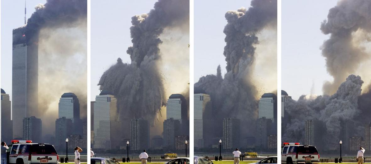 Zachycení kolapsu jedné z věží