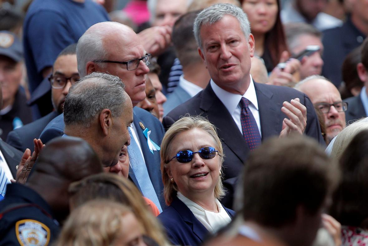 Hillary Clintonová na připomínkové akci k výročí teroristických útoků z 11. září 2001
