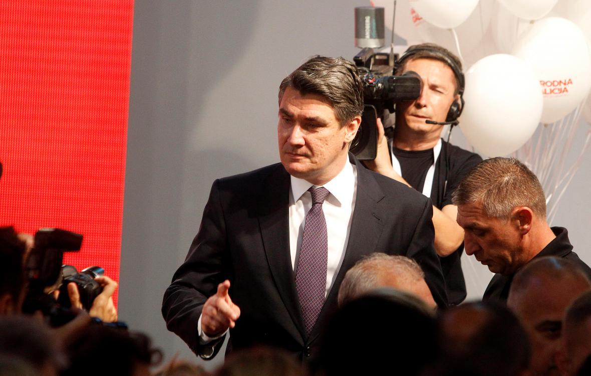 Předseda chorvatské Sociálnědemokratické strany Zoran Milanović