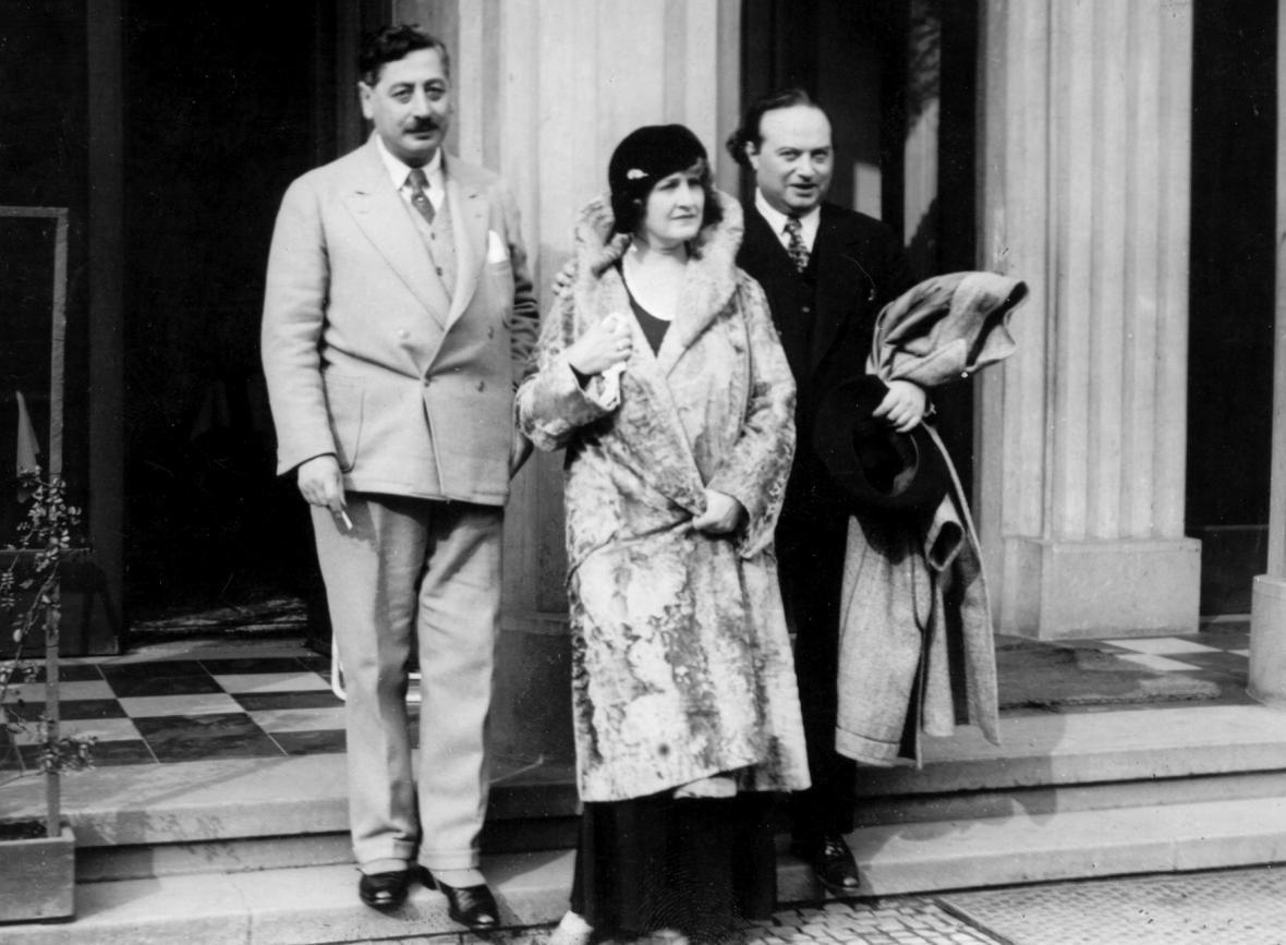 Alma Mahler s Franzem Werflem (1930)