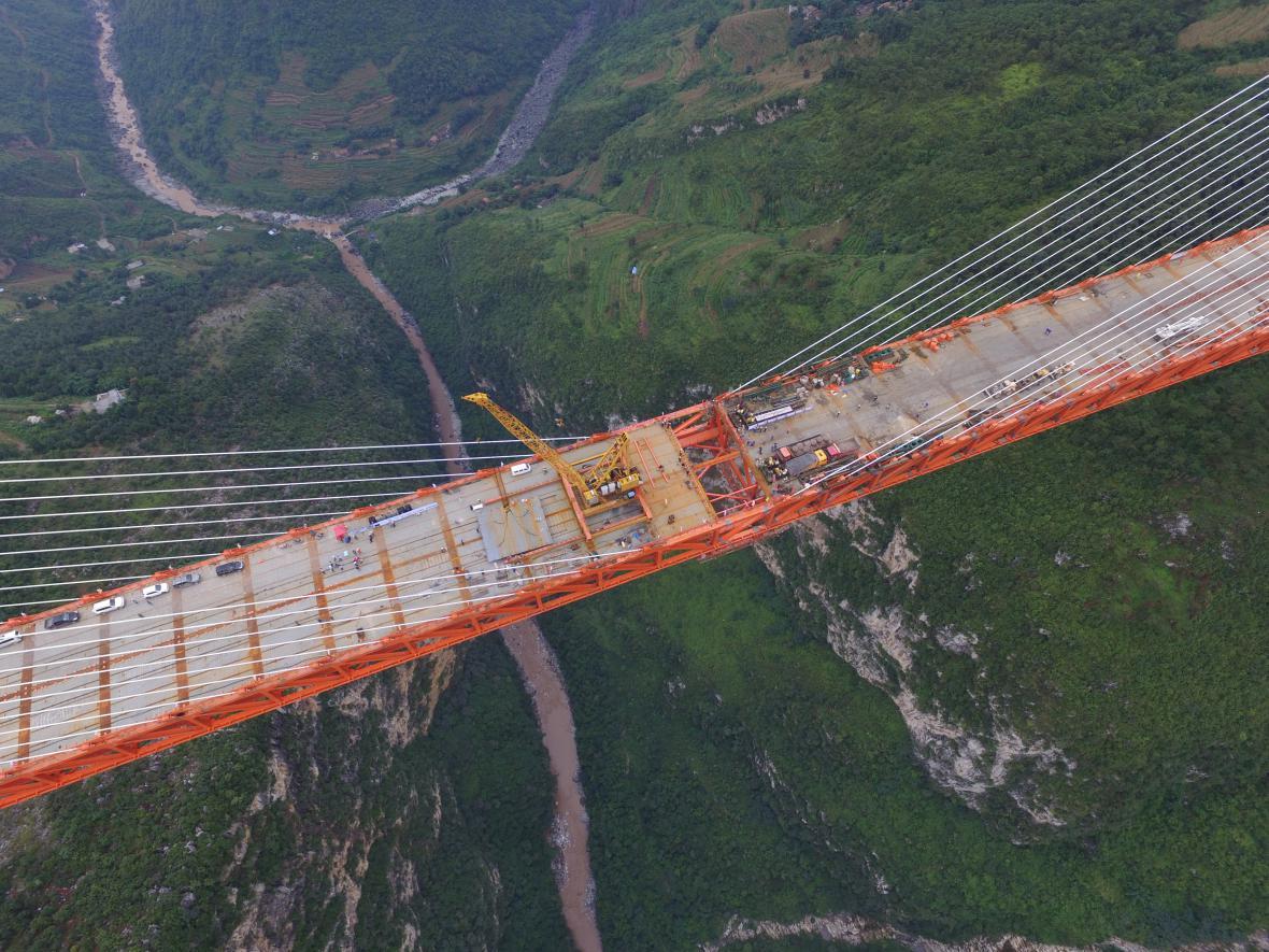 Nejvyšší most světa bude v Číně