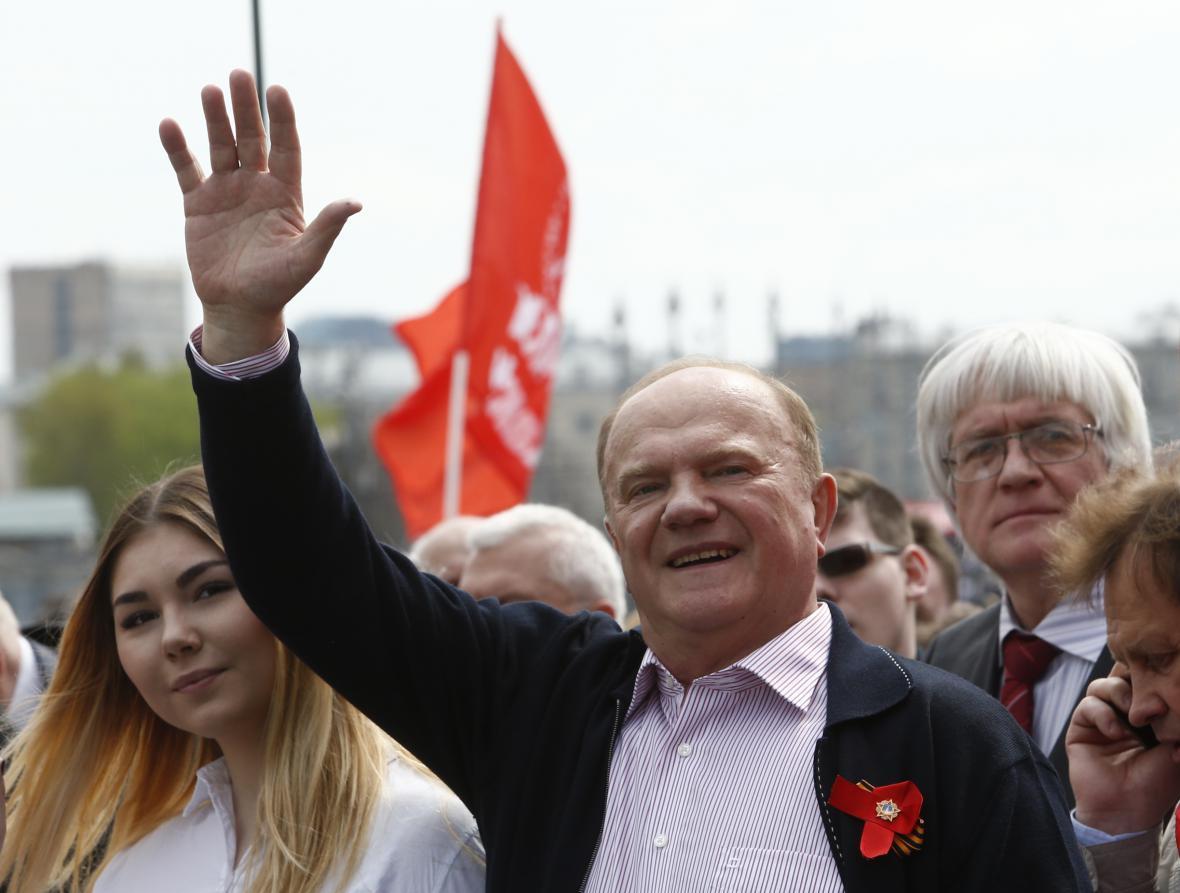 Předseda Komunistické strany Ruské federace Gennadij Zjuganov