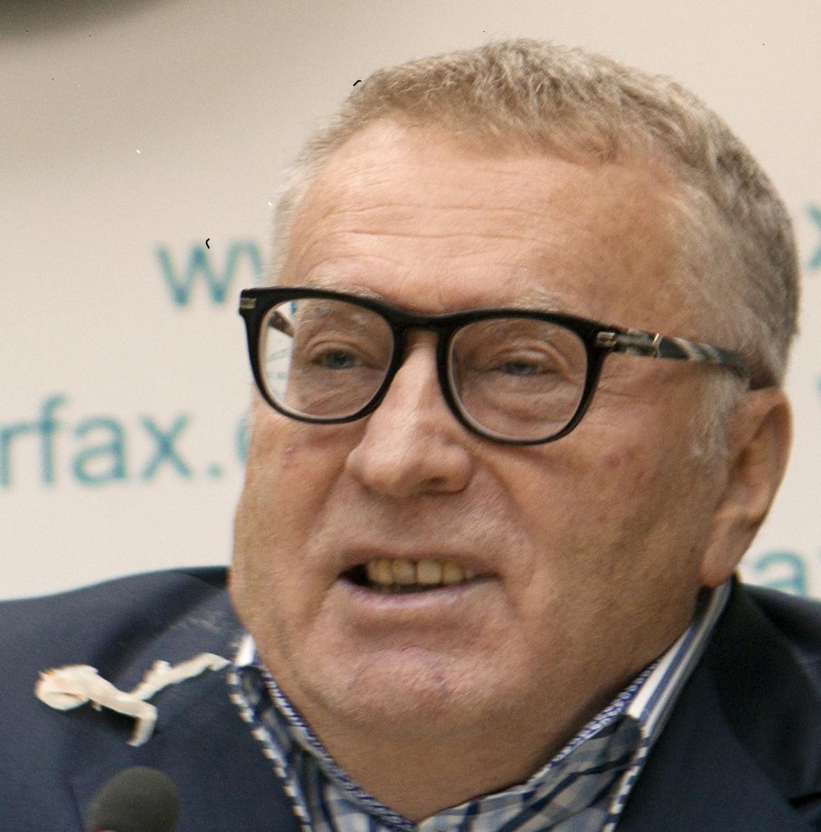 Předseda Liberálně-demokratické strany Ruska Vladimir Žirinovskij