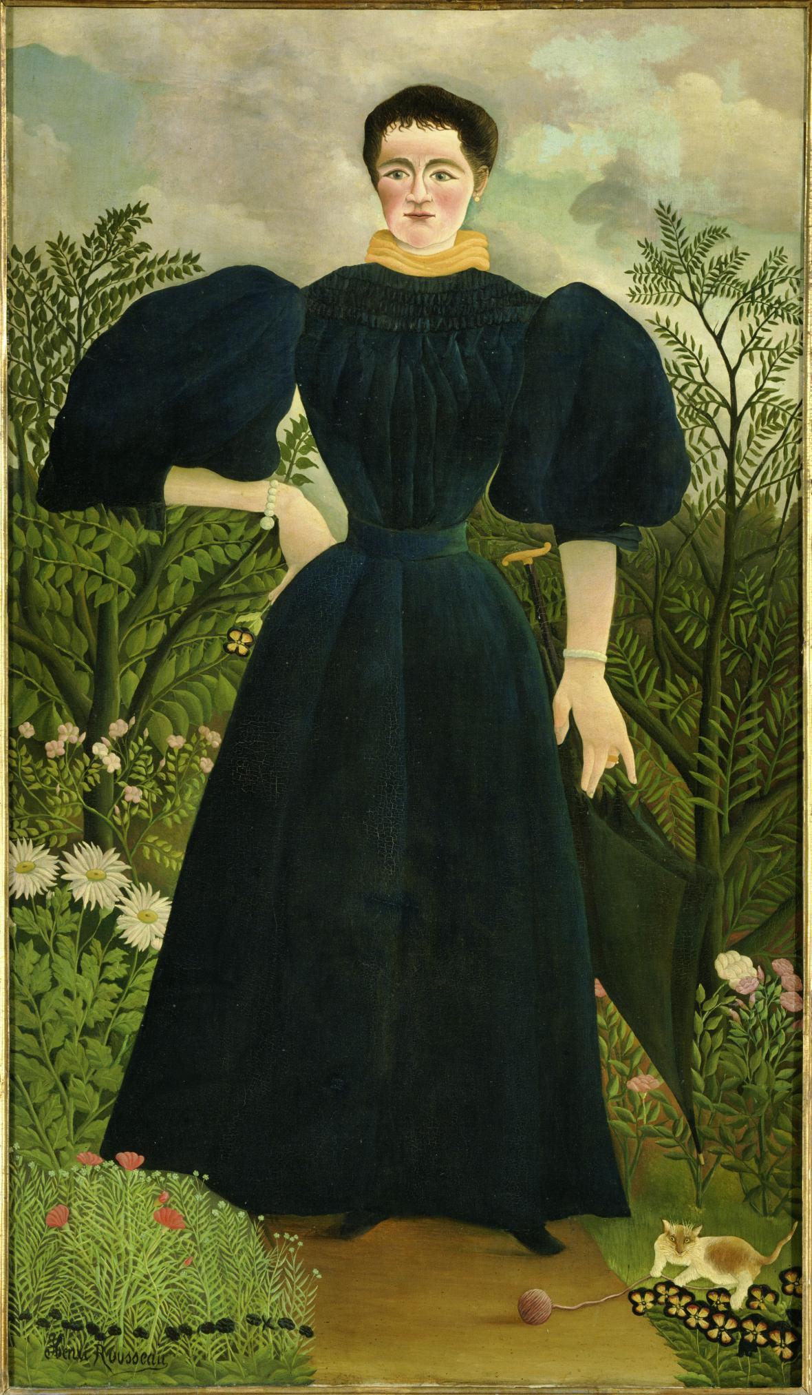 Henri Rousseau / Portrét paní M., ca 1896