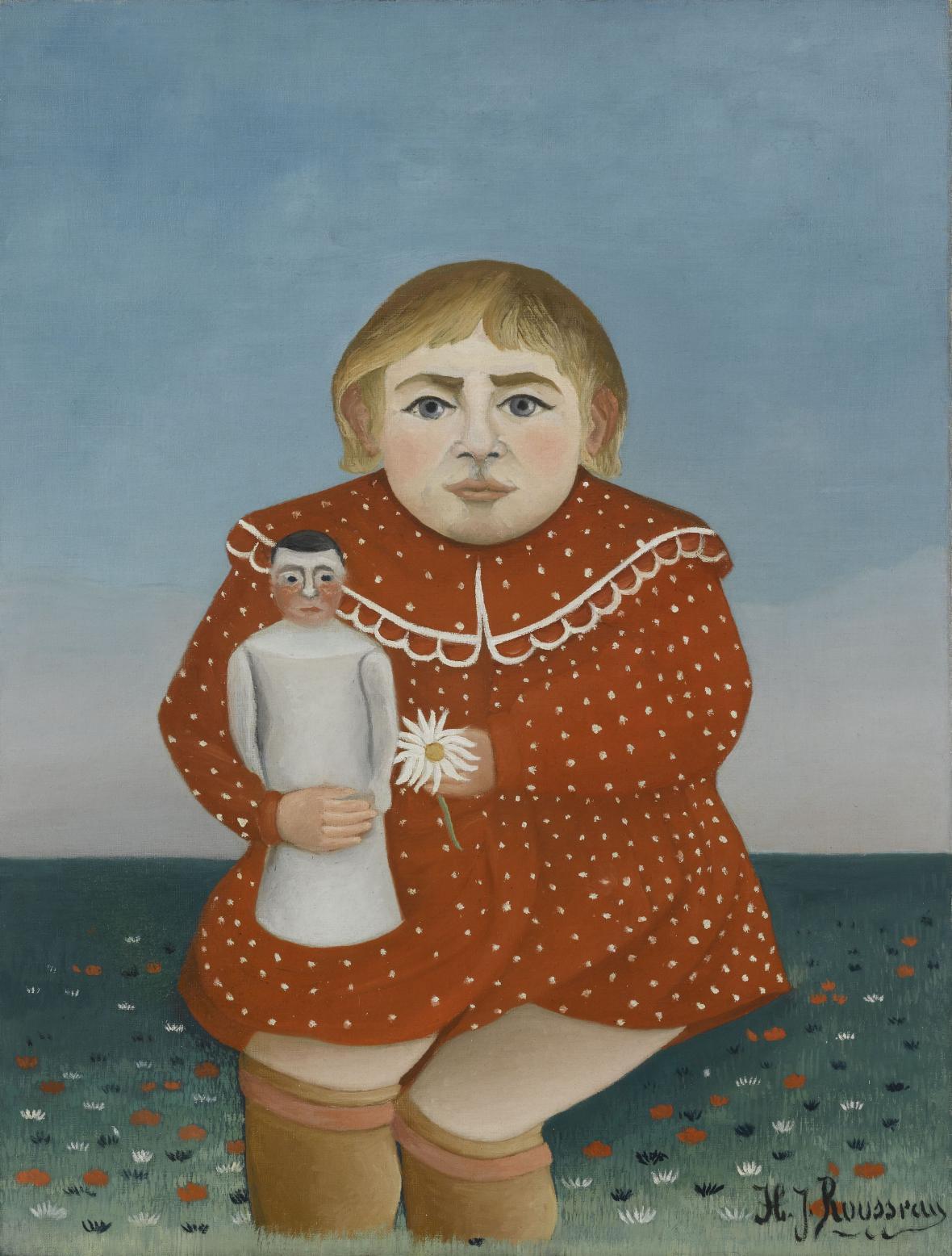 Henri Rousseau / Děvčátko s panenkou, 1904–1905