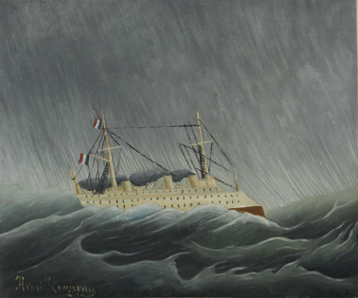Henri Rousseau / Bouře na moři, ca 1899