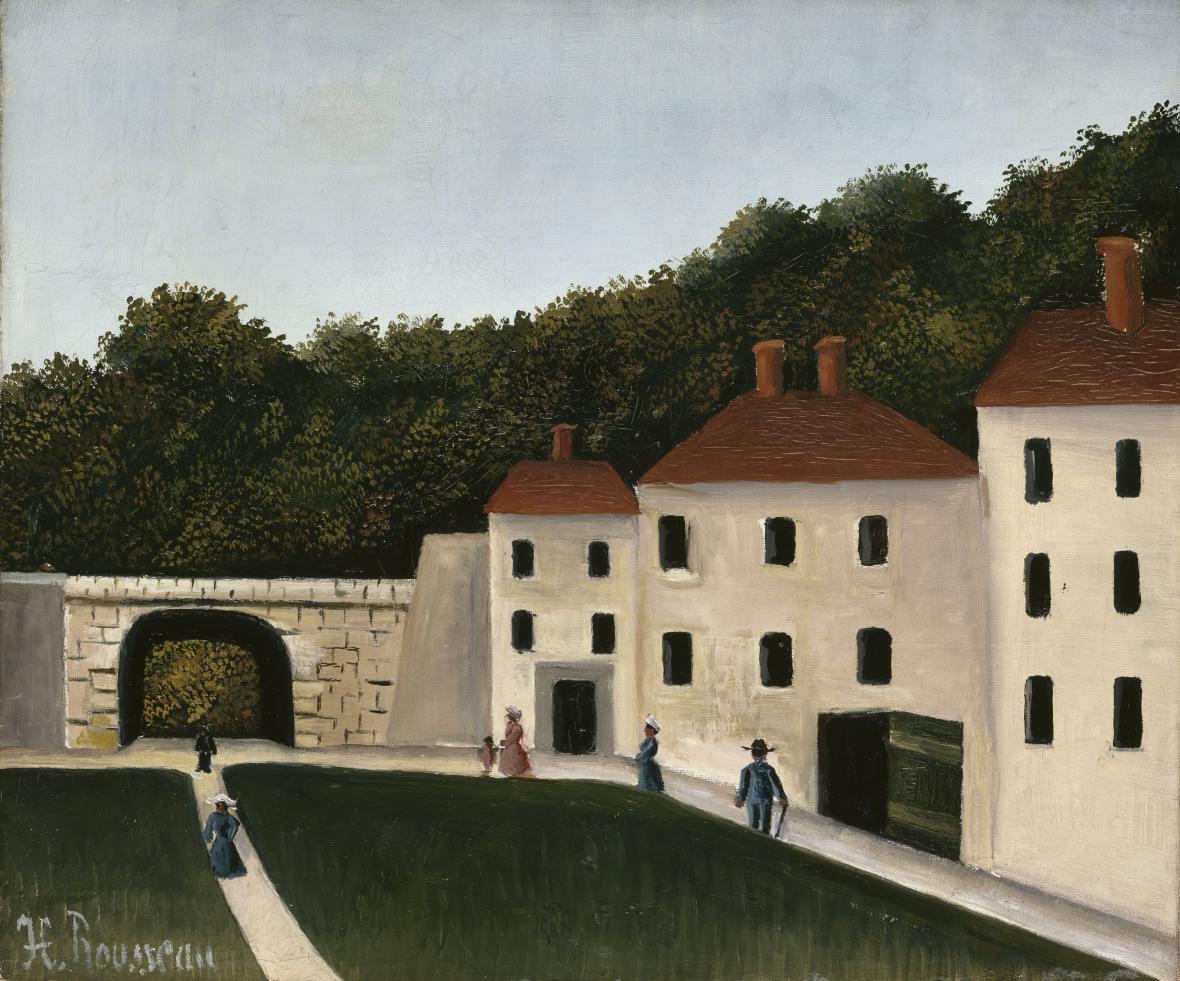 Henri Rousseau / Chodci v parku, ca 1908–1909