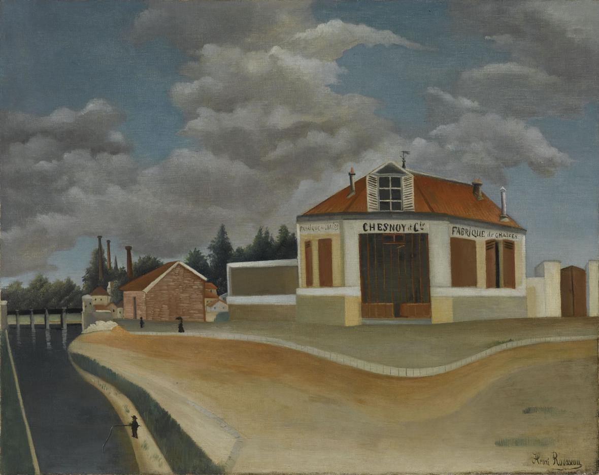 Henri Rousseau / Továrna na židle v Alfortville, ca 1897