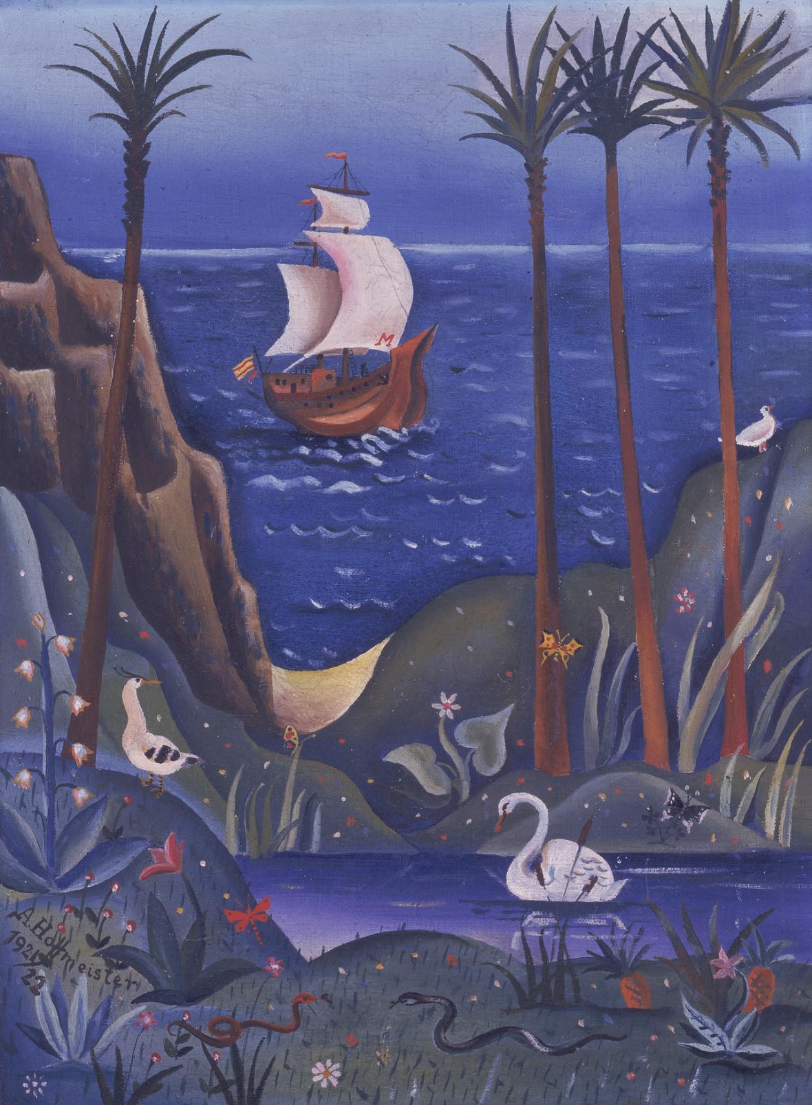 Adolf Hoffmeister / Kolumbova loď, 1921–1922