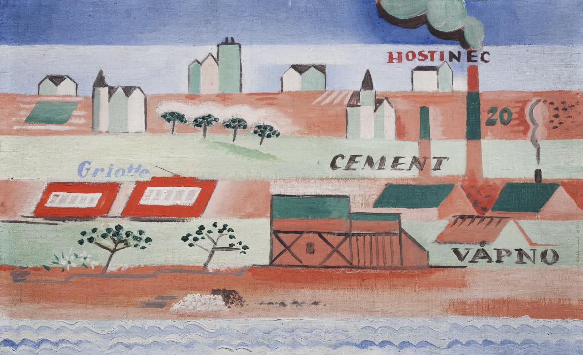 Josef Čapek / Na obvodu města, 1920