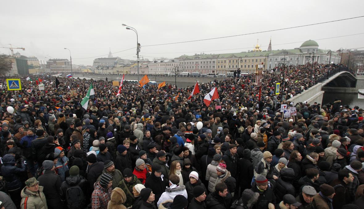 Protesty proti údajnému falšování volebních výsledků z prosince 2011 (Bolotné náměstí, Moskva)