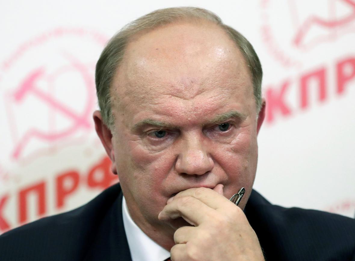 Lídr komunistů Gennadij Zjuganov
