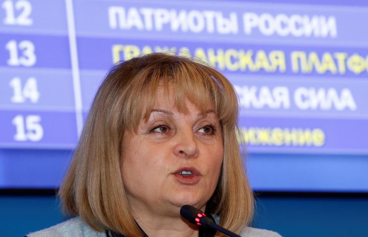 Předsedkyně ruské ústřední volební komise Ella Pamfilovová