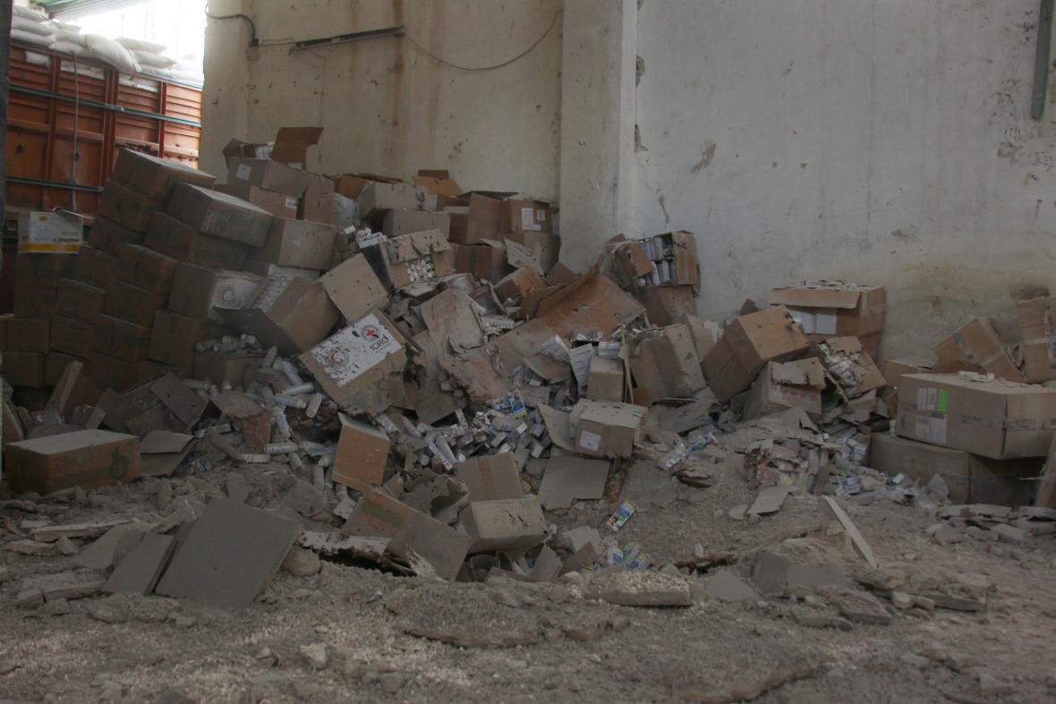 Útok na konvoj s humanitární pomocí