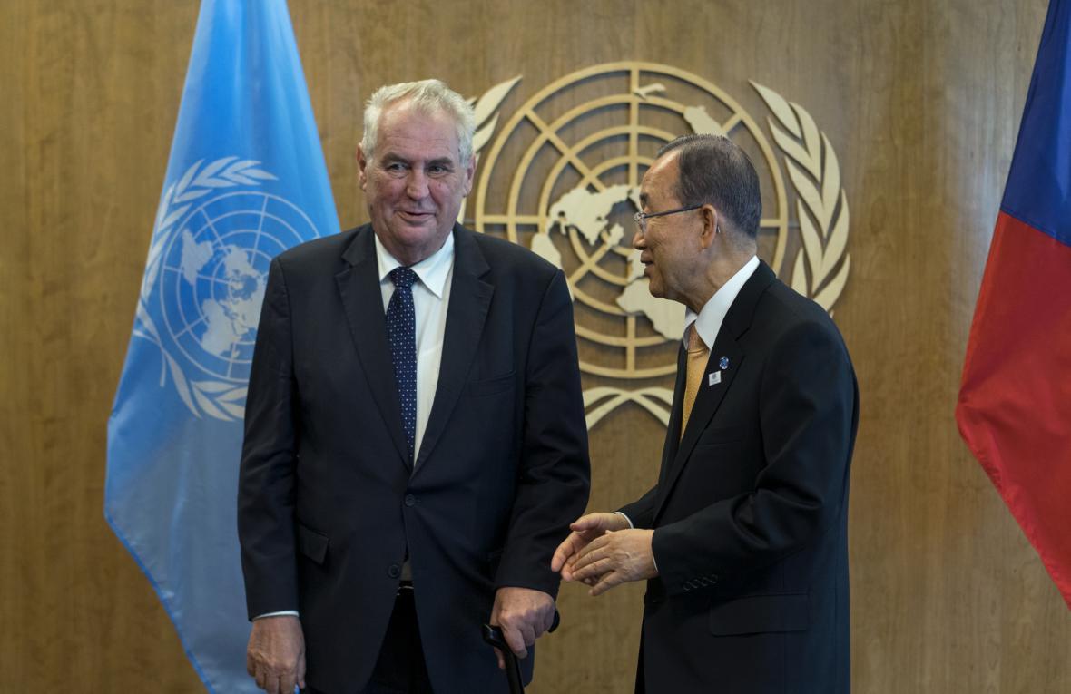 Zemanovo setkání s hlavním představitelem OSN
