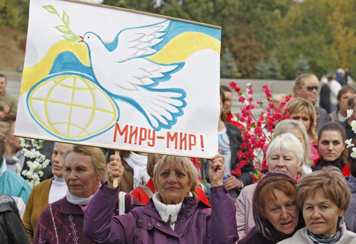 Mírový pochod v Kyjevě