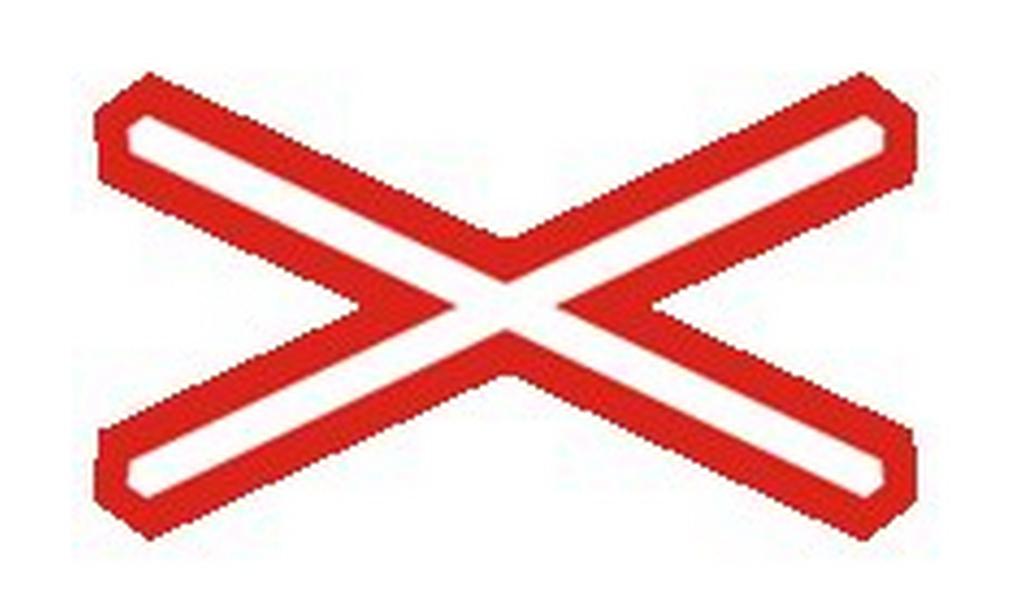 Výstražný kříž pro jednokolejný železniční přejezd