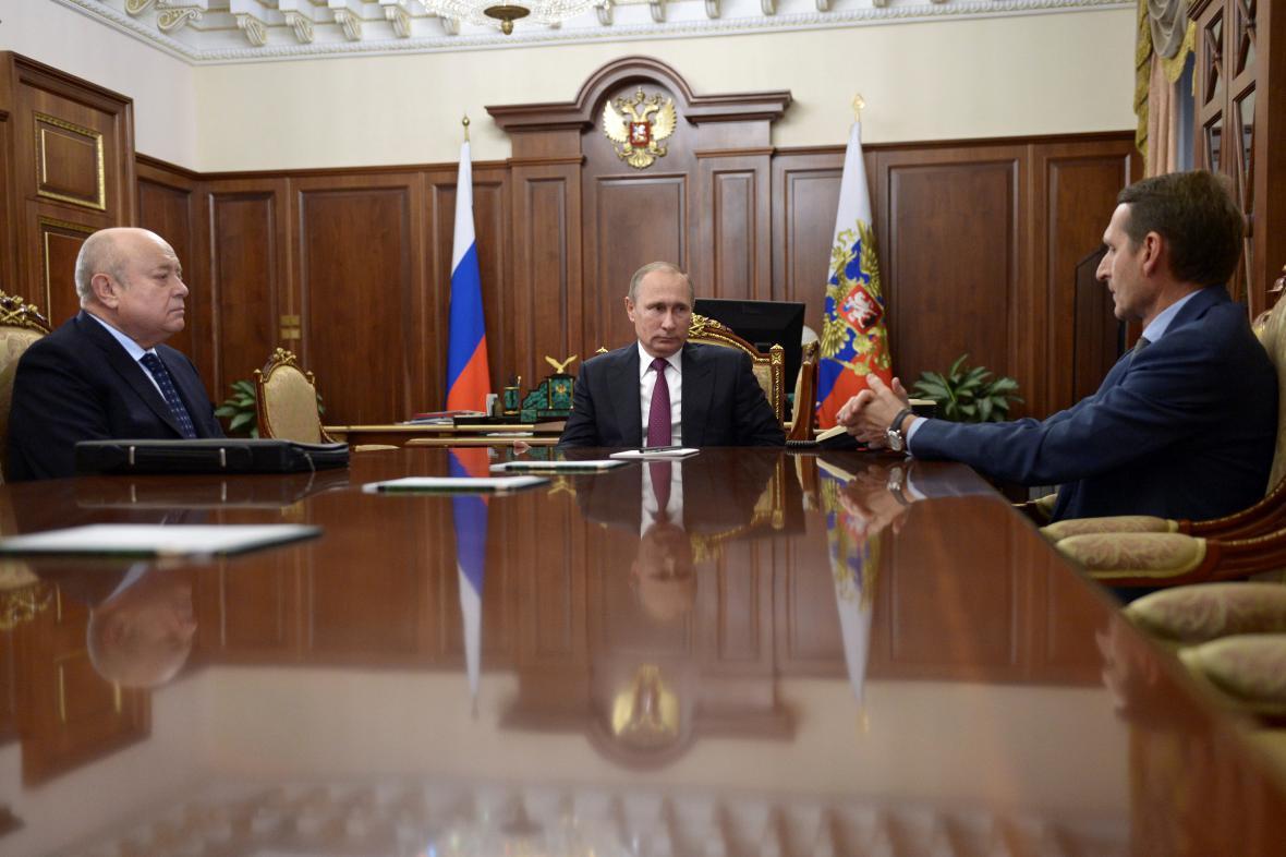 Michail Fradkov, Vladimir Putin a Sergej Naryškin