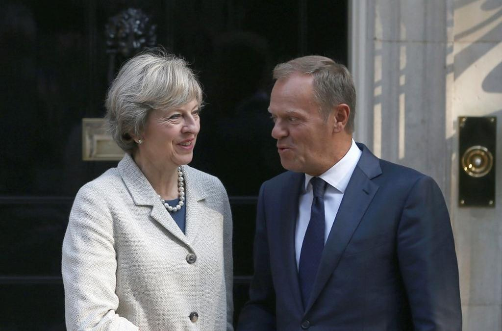 Theresa Mayová a Donald Tusk