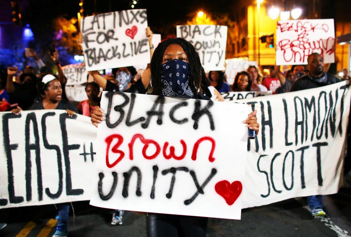Protesty ve městě Charlotte