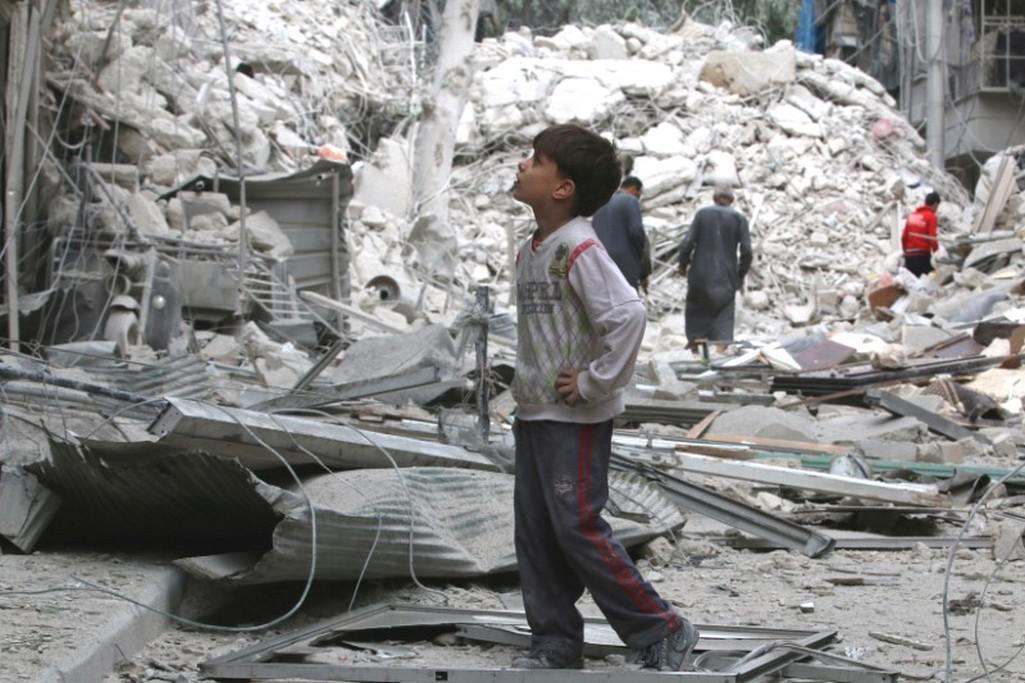 Důsledky náletů v Aleppu