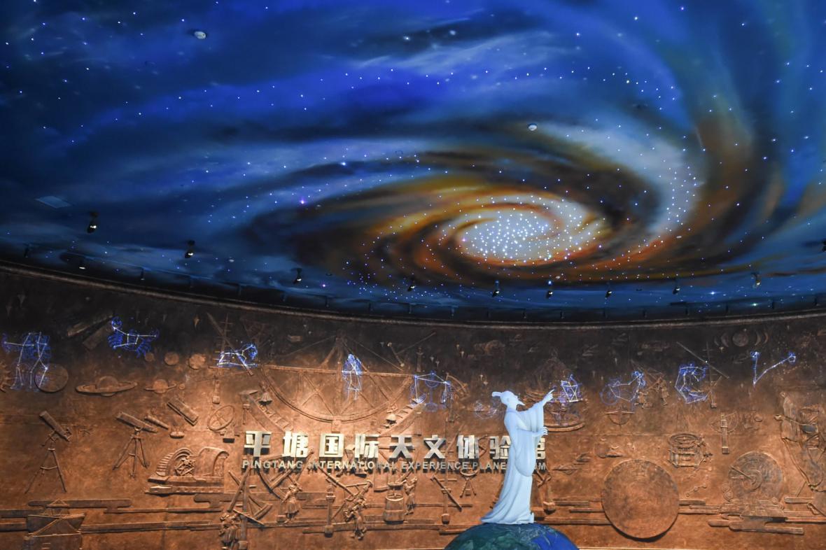 Čínský vesmírný park u teleskopu