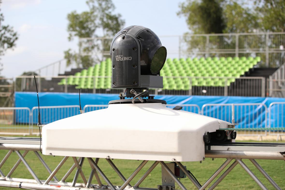Speciální kamera v olympijském areálu Diodoro