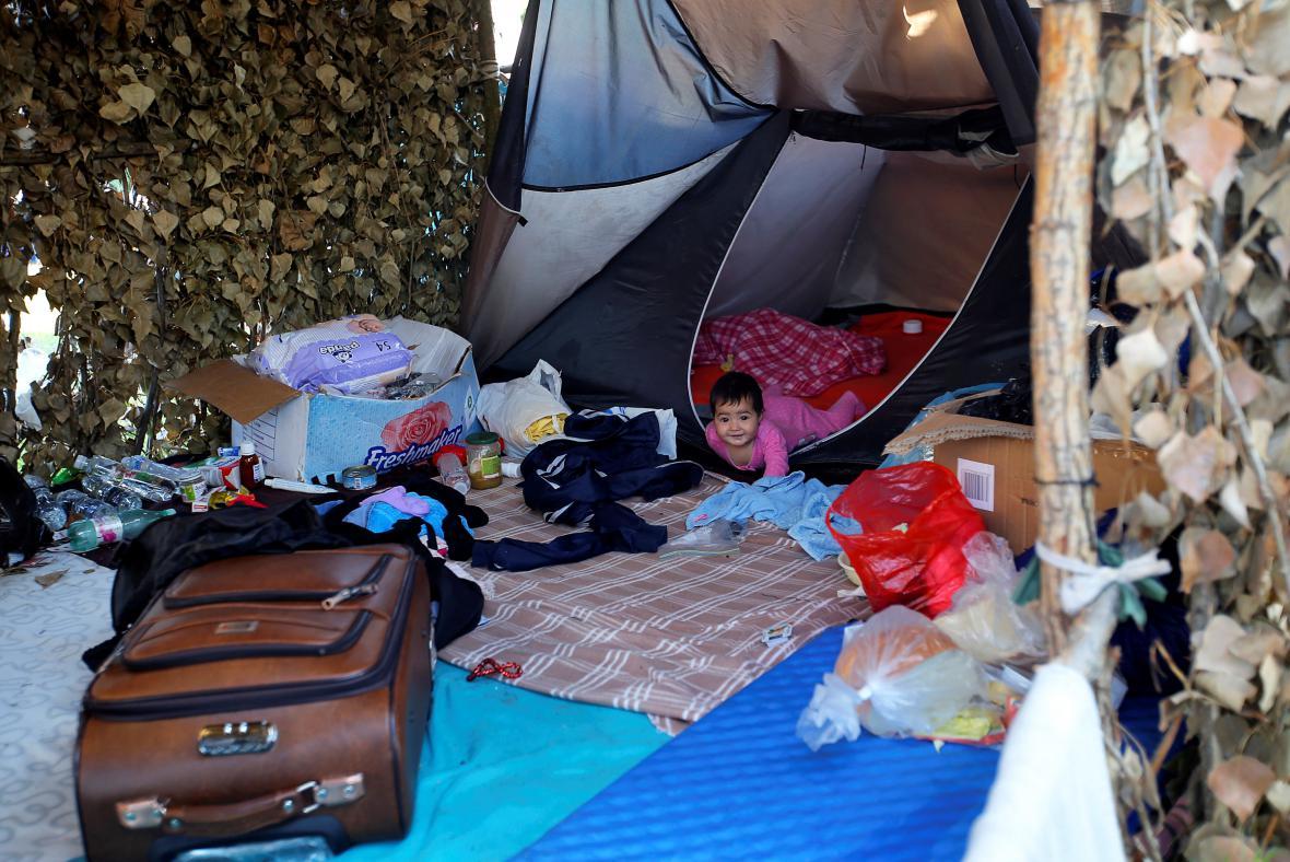 Uprchlíci na srbsko-maďarském pomezí