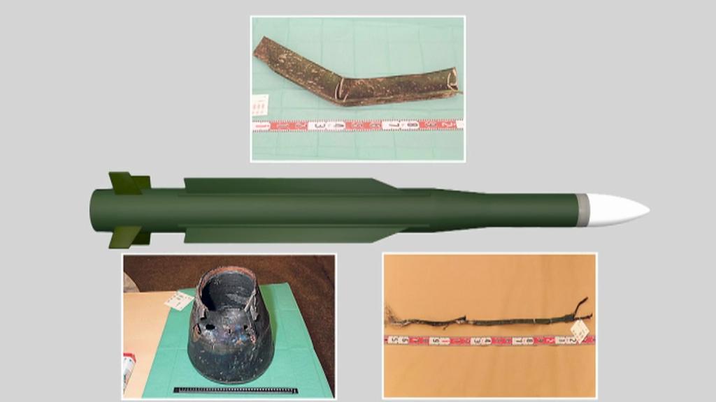 Nalezené úlomky z rakety