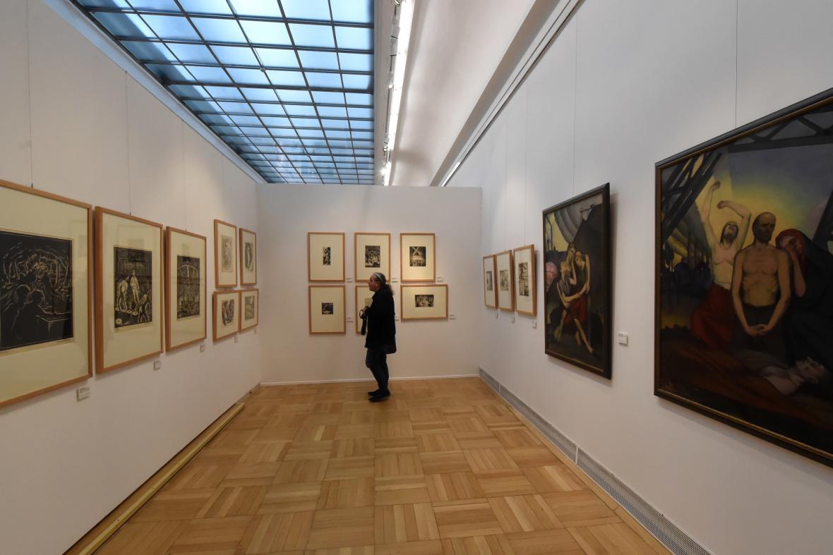 Výstava V novém světě / pohled do expozice