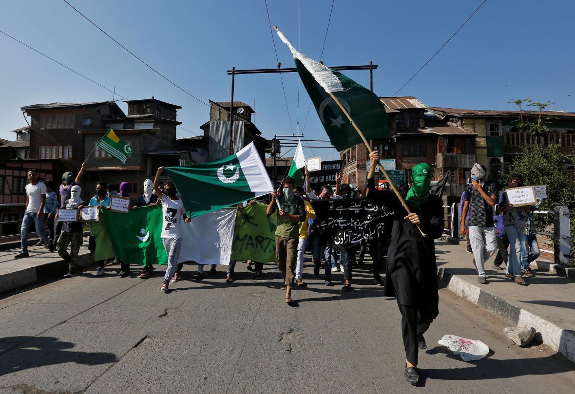 Demonstrace na podporu Pákistánu