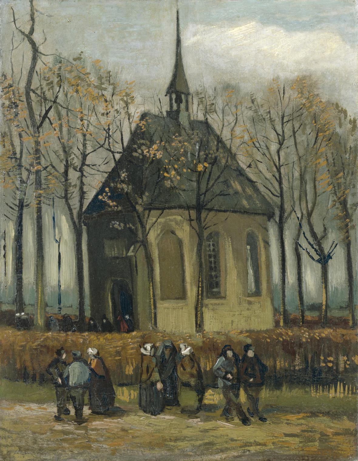 Farníci opouštějí kostel v Nuenenu