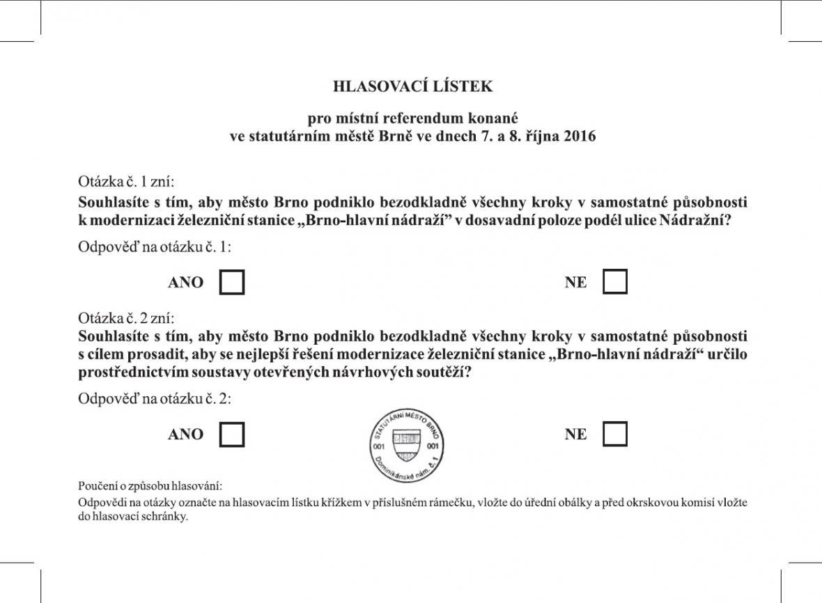 Podoba hlasovacího lístku