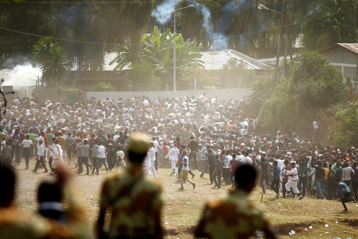 Protivládní demonstrace v Etiopii