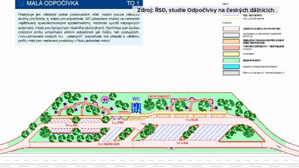 Studie Odpočívky na českých dálnicích